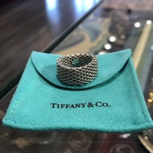 Authentic Tiffany & Co Sterling Silver Mesh Ring